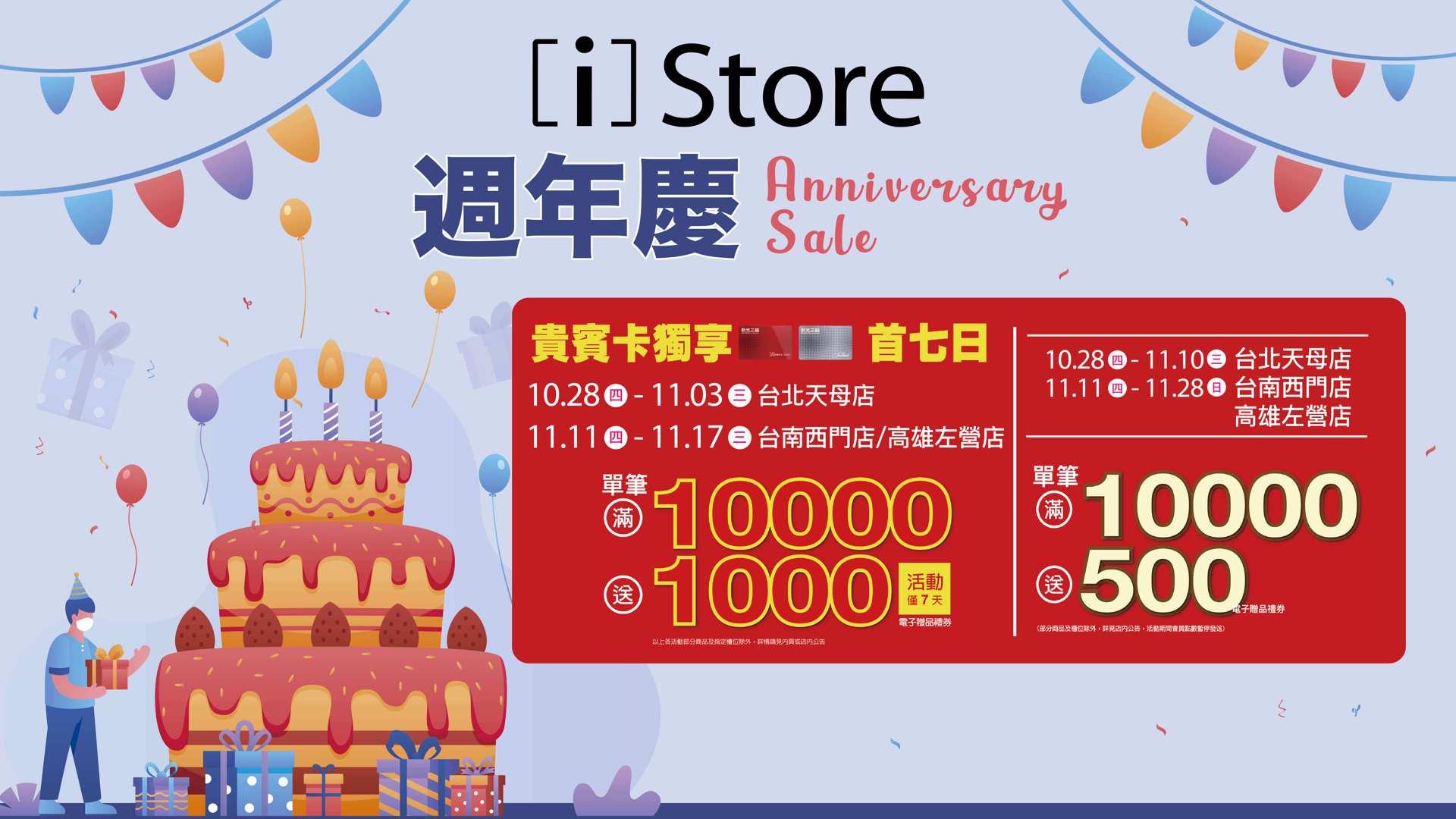 新光門市週年慶【第三波】滿 10,000 送 1,000 持續熱燒中