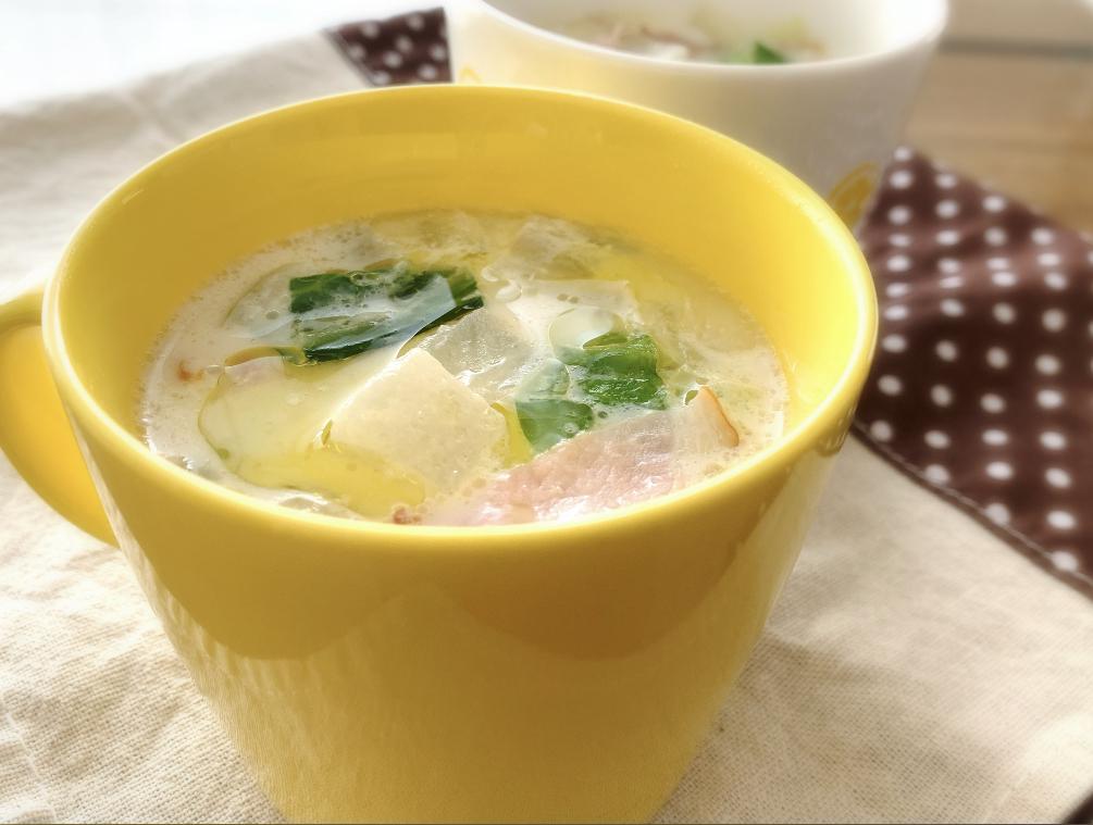 豆乳 コンソメ スープ