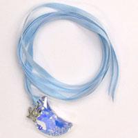 AKIHIDE | Lapis Lazuli 月のネックレス/スカイブルー