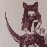 AKIHIDE | 月の舟 アリスのマグカップ(ディープレッド)