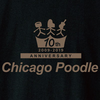 Chicago Poodle | 10th Anniversary Tシャツ(大阪・ブラック)