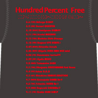 Hundred Percent Free | REBOOT EXTRAツアーTシャツ