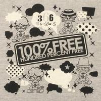 100%FREE | 366僕らのDAYS Tシャツ グレー L