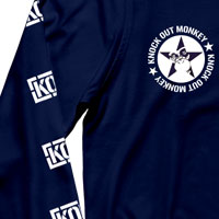 "KNOCK OUT MONKEY | KOM TOUR 2017 ""HELIX"" ロンT[Navy]"