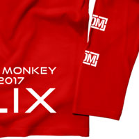 "KNOCK OUT MONKEY | KOM TOUR 2017 ""HELIX"" ロンT[Red]"
