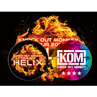 "KNOCK OUT MONKEY | KOM TOUR 2017 ""HELIX""缶バッジ&ステッカーセット"