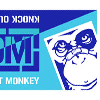 KNOCK OUT MONKEY | KOM ツートンカラータオル -Blue&Navy-