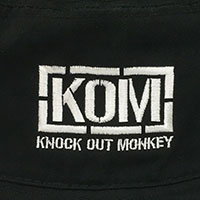 KNOCK OUT MONKEY | バケットハット -黒-