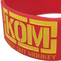 KNOCK OUT MONKEY | Four Monkey ラバーバンド  [RED]