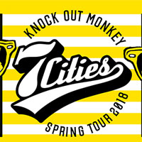 "KNOCK OUT MONKEY | ""7 CITIES"" ツアータオル"