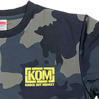 KNOCK OUT MONKEY | ドライTシャツ -Navy-