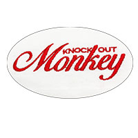 KNOCK OUT MONKEY | ポケットTシャツ -White-