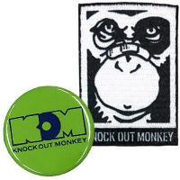 KNOCK OUT MONKEY | ワッペンシール&缶バッジ�