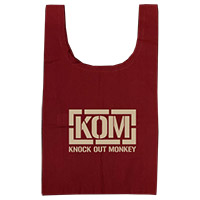 KNOCK OUT MONKEY   KOMエコバッグ [ワインレッド]