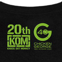KNOCK OUT MONKEY | KNOCK OUT MONKEY 20th × CHICKEN GEORGE 40th Tee