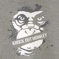 KNOCK OUT MONKEY | パーカー [B](Gray)