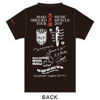 大黒摩季 | MAKI OHGURO MUSIC MUSCLE TOUR 2019 M'DRIVE限定 TOUR LOGO COMPLETE Tシャツ(BLACK)XSサイズ