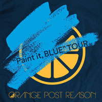 "ORANGE POST REASON | OPR ""Paint it, BLUE"" ツアーTシャツ 【ネイビー】"