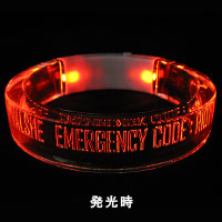 VALSHE | EMERGENCY CODE:RIOT LEDアクリルバングル(RED)
