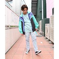 CHIHIRO YASUDA | ストライプテーパードパンツ(green)