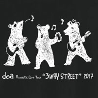 "doa | ""3WAY STREET"" クマTシャツ(ブラック)"