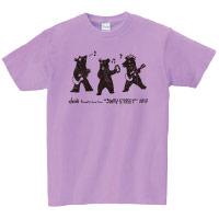 "doa | ""3WAY STREET"" クマTシャツ(パープル)"