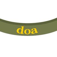 doa | チャリティーバンド(カーキ)