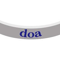 doa | チャリティーバンド(グレー)
