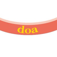 doa | チャリティーバンド(サーモンピンク)