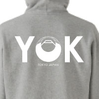 YANAKIKU | 家紋ジップパーカー(グレー)