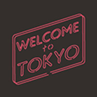YANAKIKU | Welcome to Tokyoジップパーカー(ブラック×ピンク)