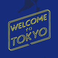 YANAKIKU | Welcome to Tokyoプルオーバーパーカー(ネイビー×イエロー)