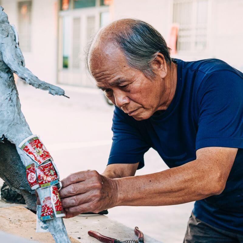 從廟宇做到神像-剪黏國寶大師陳三火