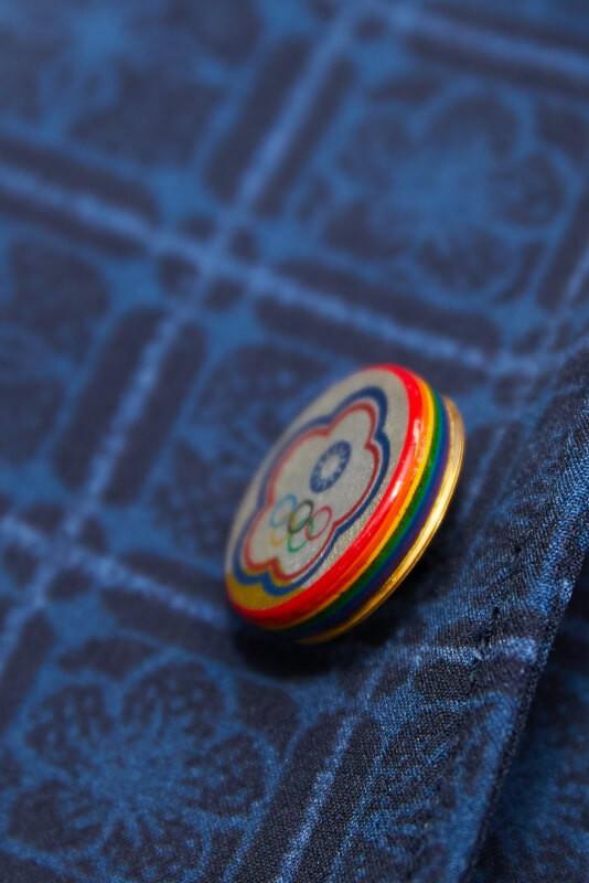 光山行製作東京奧運中華隊制服漆器鈕扣