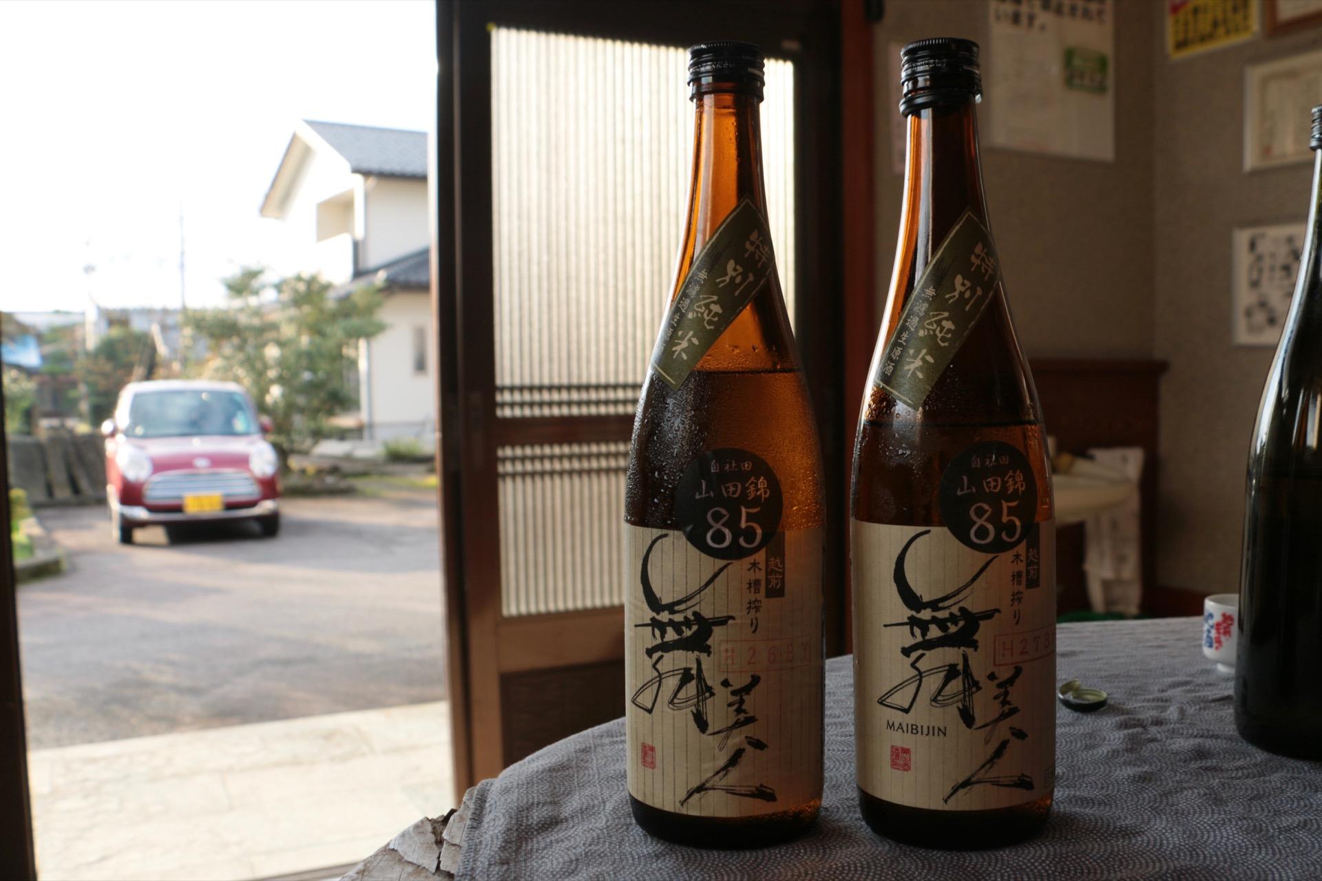 85%精米山田錦の特別純米酒BY違い飲み比べ