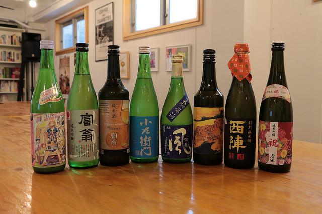 よるカフェでお出しした日本酒のラインナップ