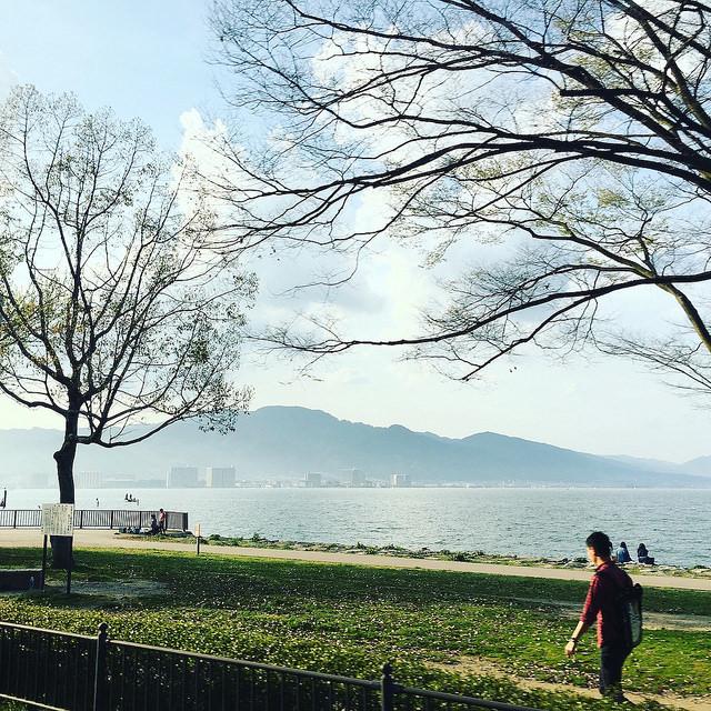美しい琵琶湖畔の風景