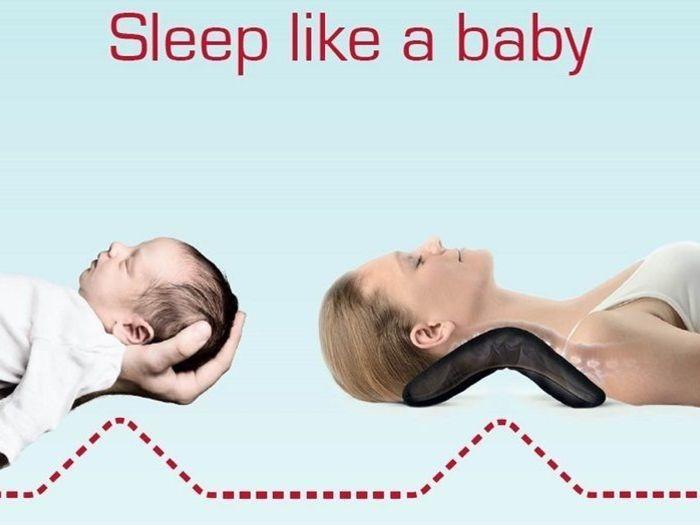 赤ちゃんが寝ている時と同じように首を自然な形状にキープすることが可能です。