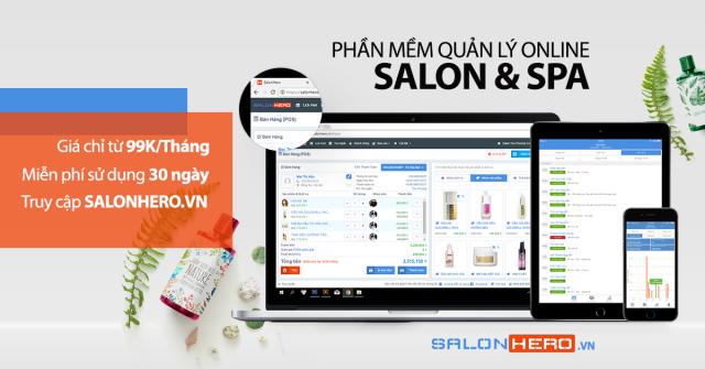 Phần mềm quản lý spa online SalonHero