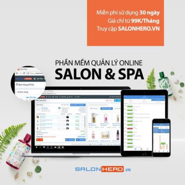 Phần mềm quản lý spa-SalonHero