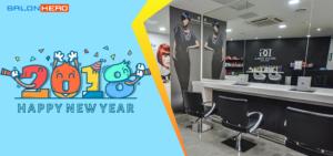 Quảng cáo cho salon trong Tết dương lịch thu hút nhiều khách hàng