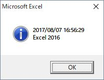 Now Excel2016