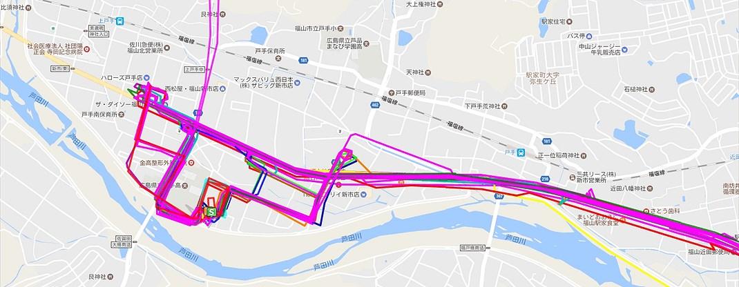 長時間GPSロガーマップ表示