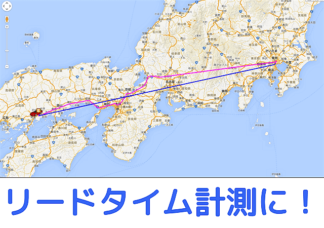 リードタイムマップ軌跡