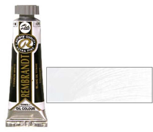 レンブラント 油絵具5号(15ml) 105チタニウムホワイト(サフラワー)