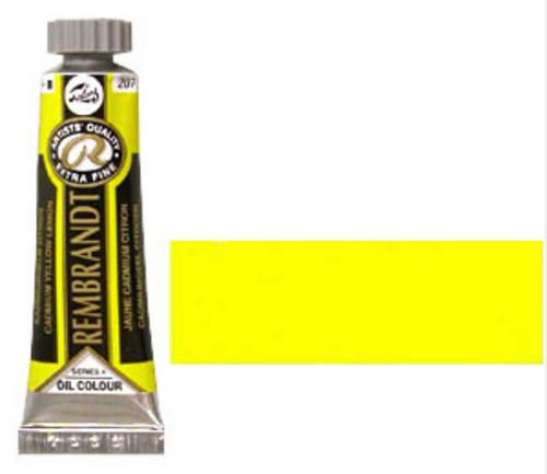 レンブラント 油絵具5号(15ml) 207カドミウムイエローレモン