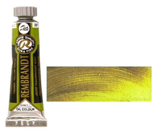 レンブラント 油絵具5号(15ml) 281トランスペアレントイエローグリーン