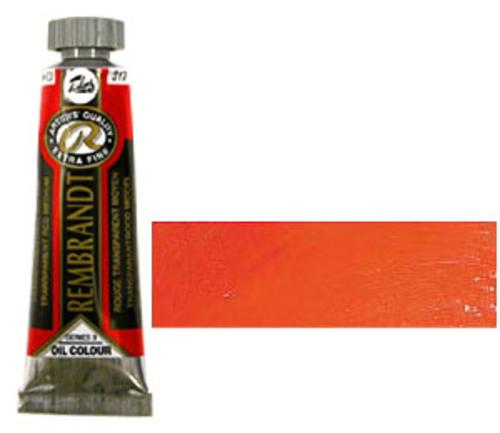 レンブラント 油絵具5号(15ml) 317トランスペアレントレッドミディアム