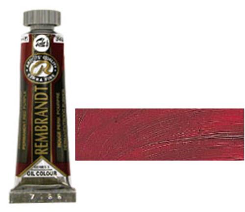 レンブラント 油絵具5号(15ml) 348パーマネントレッドパープル