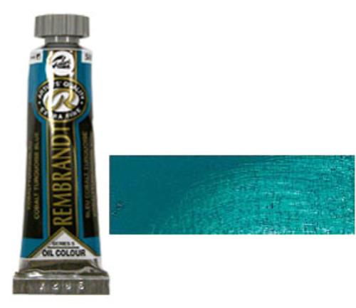 レンブラント 油絵具5号(15ml) 586コバルトターコイズブルー